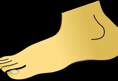 rysunek bosej stopy